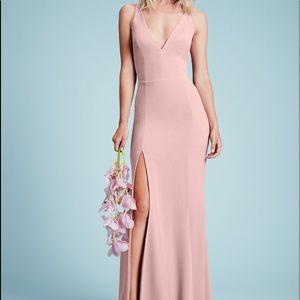 Dress the Population Iris slit dress blush XS